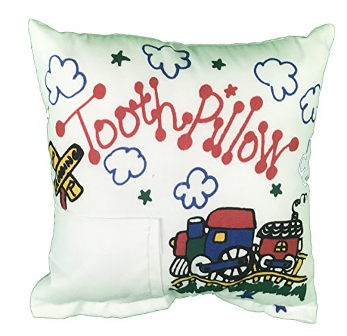 Personalized Tooth Fairy Pillow (Train Tooth Fairy Pillow with Tooth Fairy Dust)
