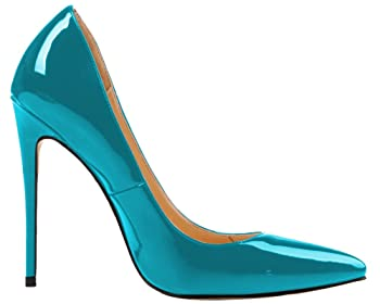 Women's Stiletto Heel Plus Size Shoes Pointed Toe Pump for Wedding Party Dress