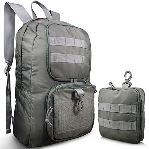 Bagbug Backpack Packable Design Military Style Waterproof Ultralight with MOLLE Dual Mode - Waist Bag/Day Pack