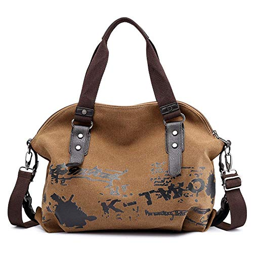in stile da Borsa Tote marrone donna Borsa Plot tela POdaEq