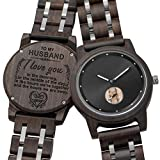 Customized Engraved Wooden Watch, Analog Quartz Movement Wood Watch for Men Husband Family Friends Customized Gift (for Husband)