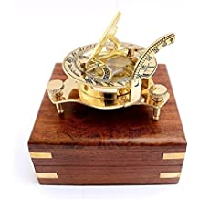 """3""""Nautical West London Sundial Compass With HandCrafted Wooden box"""