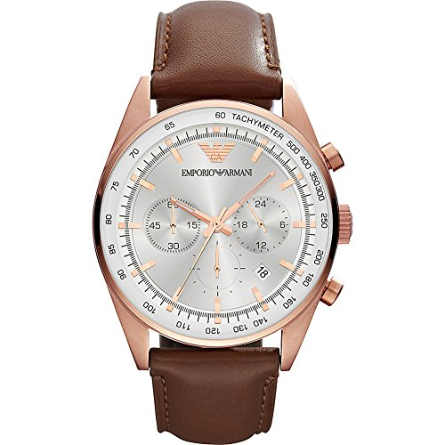 Emporio Armani Men's AR5995 Sport Brown Leather (Emporio Armani Sport Watch)