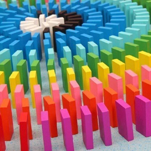 Fengh aprox. 120 piezas colorido dominós de madera bloques Set ...