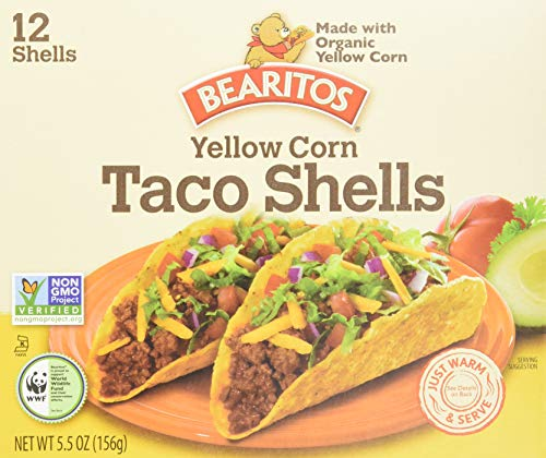 Bearitos Yellow Corn Taco Shells, 12 Shells in 5.5 Ounce Boxes (Pack of 12)