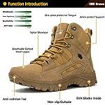 Ansbowey Bottes Hommes Chaussures de Randonnée Femmes Tactiques Militaire Combat Boots Exterieur antidérapantes Bottines… 8
