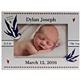 Personalized Baby Picture Frame, Baby Picture Frame, New Baby Birth Frame, Baby Boy Frame, Baby Boy or Girl Birth Frame, Picture Frame for Baby, Country Blue Jays