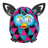 Triangles Furby Boom Sunny Black, Pink, and Blue Electronic Plush Figure