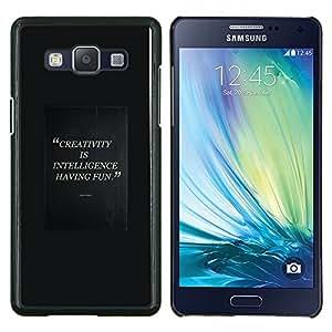 EJOOY---Cubierta de la caja de protección para la piel dura ** Samsung Galaxy A5 A5000 ** --la creatividad inteligente que tiene cita de la diversión