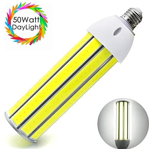 inShareplus LED Corn Light Bulb 50 Watt, Daylight White 5500K, 4500Lumens, E26/E27 Base, COB LED Chips (210Pcs), 350W Equivalent Street and Area Lights for Indoor Outdoor Garage Factory Warehouse