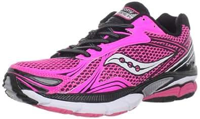 Saucony Women's Powergrid Hurricane 14 Running Shoe,Pink/Black,9 M US
