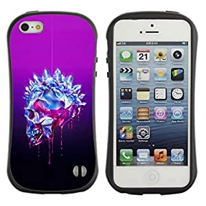Be-Star Colorful Printed Design Anti-Shock Iface First Class Tpu Case Bumper Cover For Apple iPhone 5 / iPhone 5S ( purple crystal black skull bling diamond ) Kimberly Kurzendoerfer
