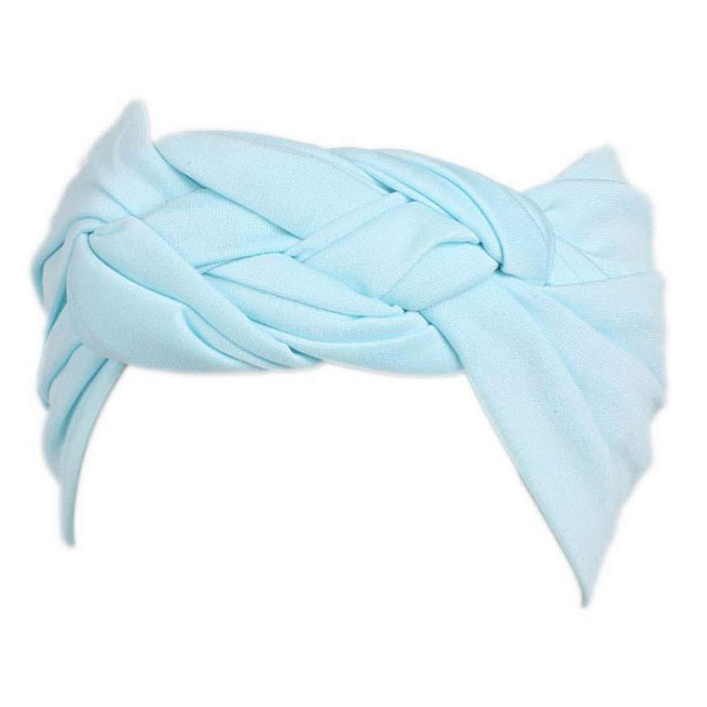 Women's Bohemian Sports Headband Turban Head Warp Elastic Hair Band