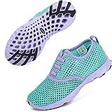 ALEADER Girls Sneakers Sport Aqua/Running/Walking Shoes for Beach Swim Pool Camp Purple/New Mint 13 M US Little Kid: more info