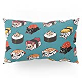 Society6 Sushi Frenchie Pillow Sham King (20'' x 36'') Set of 2