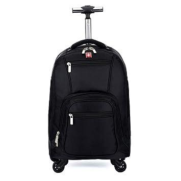 1fb2fce81400 Amazon.com: HONGNA Travel Backpack Four Round Black Oxford Cloth ...