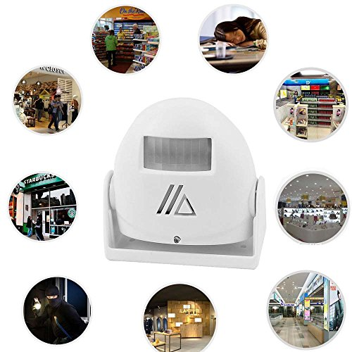 iPstyle IR Motion Sensor Alarm Doorbell Greeting Store Doorbells Wireless Alarm 10m Warning with Music, Voice for Market, Closer to Lives of Consumers, Shops, Factories, Home Various Occasions]()