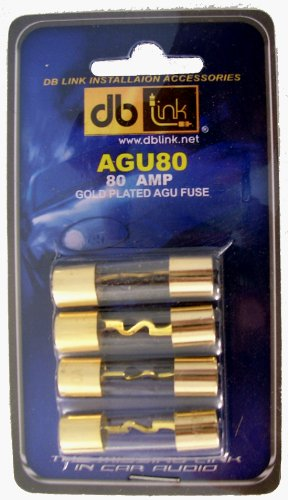 DB Link AGU80 80 Amp Gold AGU Fuses