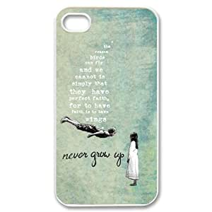 5c Case,TPU iPhone 5c Case,Peter Pan Design Fashion Pattern Hard Back Cover Snap on Case for iPhone 5c (Black/white)