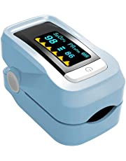 GAYY Oxímetro de pulso de dedo digital con baterías de pantalla LED y medidor de glucosa en sangre Lanyard, B
