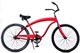 Fito Men's Modena Sport 2.0 1 Speed Beach Cruiser Bike, Red, 18