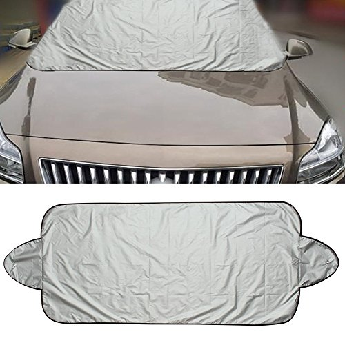 Premium Car Windscreen Cover Windshield Sun Snow Cover Weatherproof Shield Dust Protector Cover with 2 Suction Cups 1 PCS