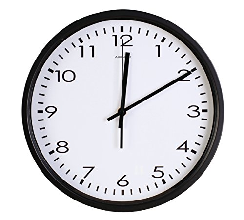 Best Wall Clock Quartz with Home,Office, Classroom Super Silent Wall Clocks Quiet Sweep Decorative Clocks Non Ticking (10Inch, Black) ()
