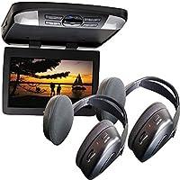 Audiovox AVXMTG13UHD 13 LED Overhead DVD Player w/ 2 Wireless IR Headphones