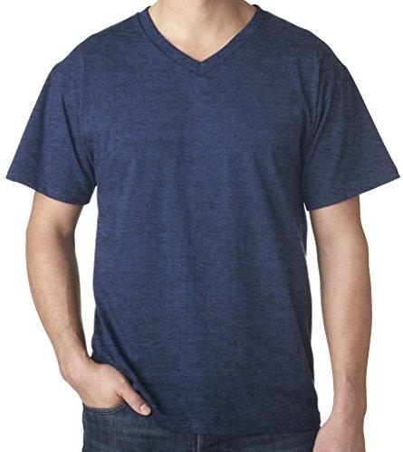 Falcon Bay Soft V-Neck T-Shirt NAVY HEATHER 6XL #845B - Falcon Bay Big And Tall T-shirt