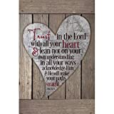 Trust In The Lord With All Your Heart…New Horizons Wood Plaque