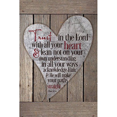 Trust In The Lord With All Your Heart...New Horizons Wood Plaque