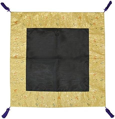 杢魚・磬子掛 黒紗 90cm角 日本製 (3799-0102)
