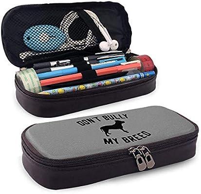 Estuche de lápices QiangQ con bolsa de cuero con cremallera. Muchas personas no saben lo que quieren hasta que se lo enseñes. & mdash; Steve Jobs aplicable a cualquier persona 3.54x7.87x1.57 pul: