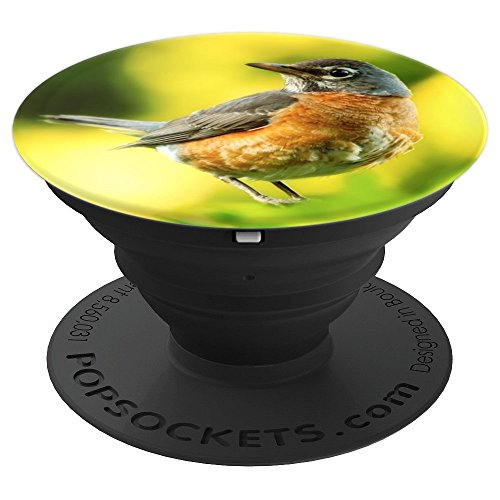 Red Belly Bird - PopSockets Grip and Stand for Phones and Tablets (Bird Belly)