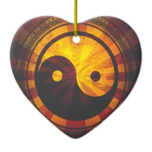 Valentine Herty Christmas Ornament Vintage Yin Yang (Yang Ornament Yin Copper)