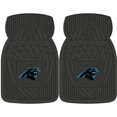 NFL 4-Piece Front #36572619 and Rear #19888883 Heavy-Duty Vinyl Car Mat Set, Carolina Panthers by Sports Licensing Solutions LLC