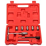 Supercrazy 7PCS Laser Diesel Injector Seat Cleaning Tool Kit for BMW PSA Renault Ford Mercedes-Benz SC0039
