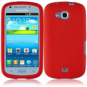 eFashion Rubbery Silicone Softy Case Cover for Samsung Galaxy Axiom R830 Admire 2 RealRedColor also included Elegant Fashion Gift Bag
