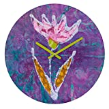 Deny Designs Elizabeth St Hilaire Nelson Violet Tulip 12-inch Round Clock For Sale