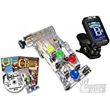 CLASSICAL Guitar Chord Buddy Learning System w/ True Tune Clip-on Chromatic Tuner for Nylon-String, Wide-Neck Classic Guitars