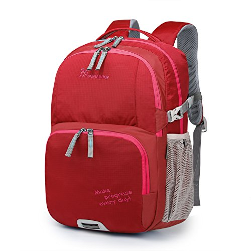 Mountaintop Kids School Backpacks Elementary Bookbag for Boys Girls with Chest Strap