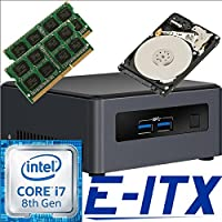 Intel NUC7I7DNHE 8th Gen Core i7 System, 8GB Dual Channel DDR4, 2TB HDD, NO OS, Pre-Assembled and Tested by E-ITX