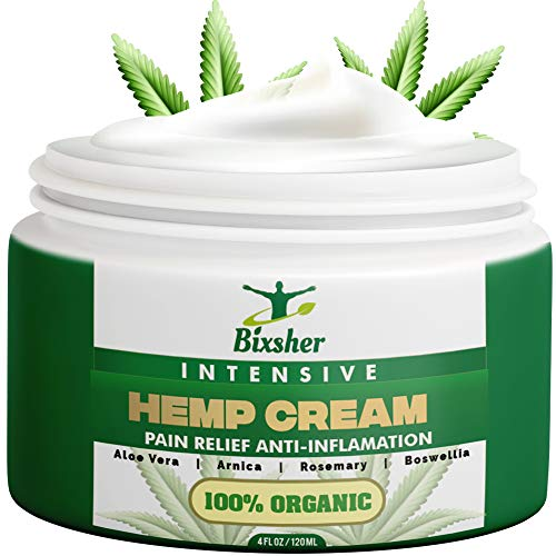 Hemp Cream Back Pain Relief | Muscle & Joints Relief Cream | Natural High Strength Formulation Hemp Extract | MSM…
