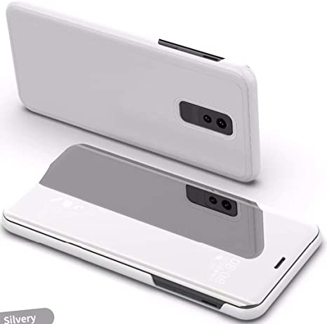 Amazon Com Xiaomi Pocophone F1 Case Translucent Window View Flip Wallet Stand Cover Shiny Plating Make Up Mirror Taitou Smart Sleep Awake Hard Case For Xiaomi Poco F1 Scan Qr Code App Silver Everything