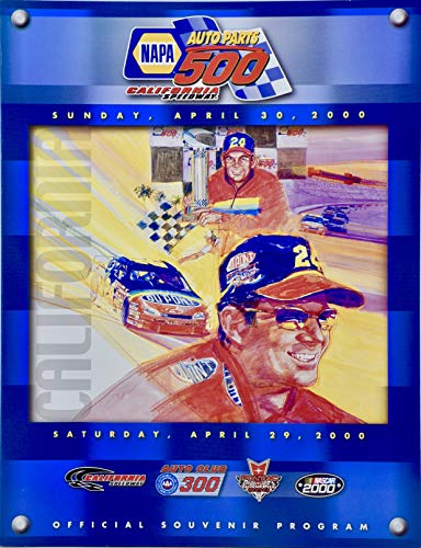2000 - California Speedway - NAPA Auto Parts 500 - Official Souvenir Program - April 29-30 - NASCAR - Collectible