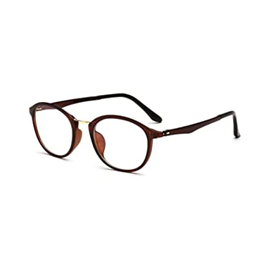 0bf21ae958 Amazon.com  Retro Eye Glasses Frames Women Men Plain Optical Spectacles  TR90 Light Frame  Clothing