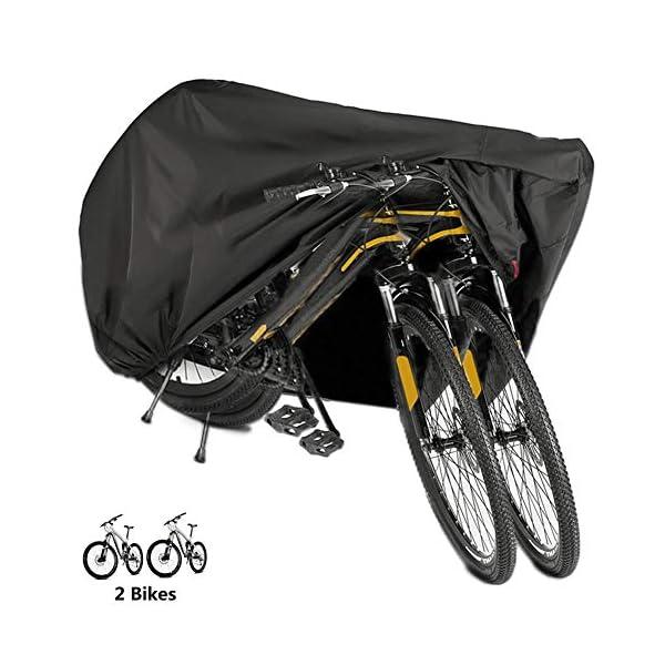 51dIQ2UkKwL BICASLOVE Fahrradabdeckung Wasserdicht, Fahrradschutzhülle Fahrradträger für 2 Fahrräder Wasserfest Atmungsaktiv…