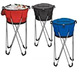 Cheap Collapsible Barrel Cooler with Stand- Blue