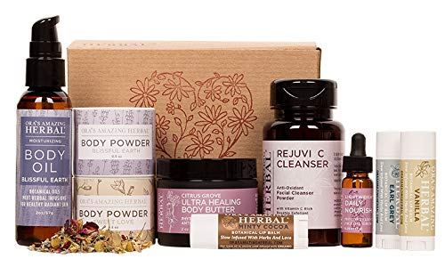 Love Your Skin, Luxury Natural Skincare Gift Set, Transformative Aromatherapy, Herbal Infused Skin Care, Ora's Amazing Herbal, Paraben-free Luxury Skin Care Sets, Apothecary Skincare for Women - Organic Skincare Gift Sets