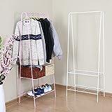 LXLA- Floorstanding Hanger Iron Coat Rack Simple Multifunction Shelf Bedroom Vertical Organizations Hanger Continental Economic Type 60×35×150cm (Color : White)